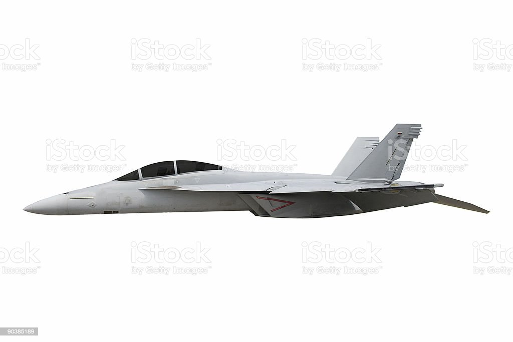 F-18 Hornet Isolated royalty-free stock photo