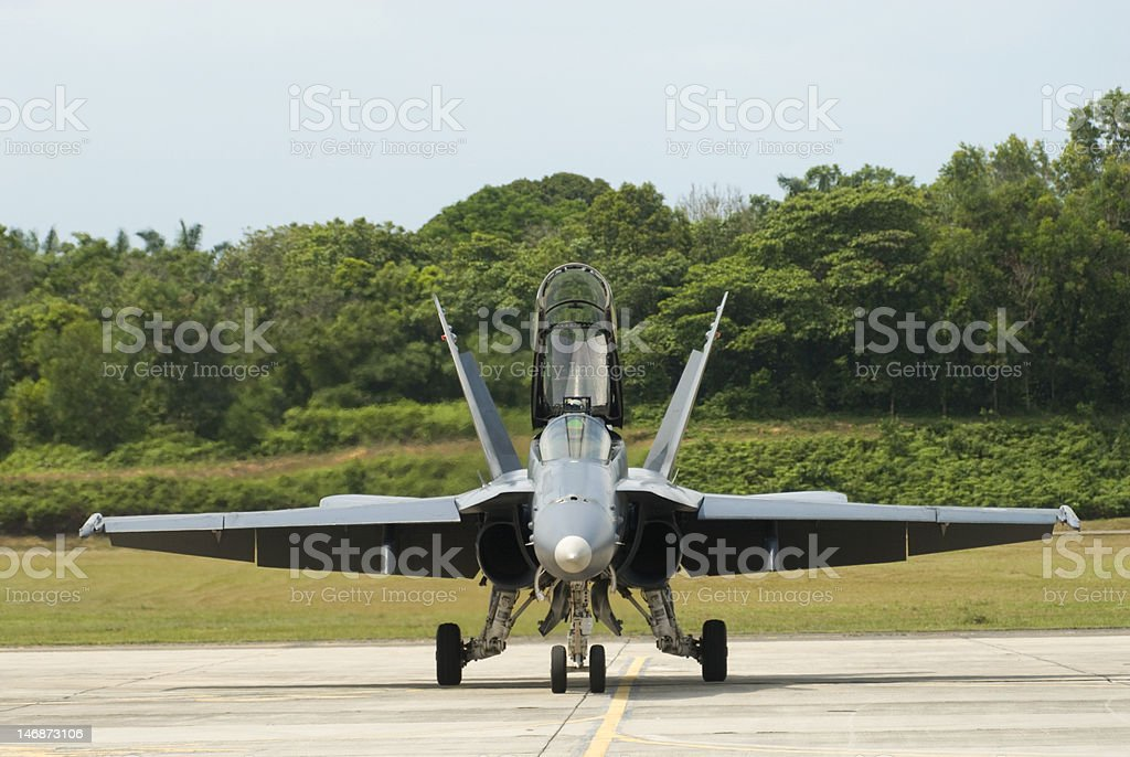 FA-18D Hornet royalty-free stock photo