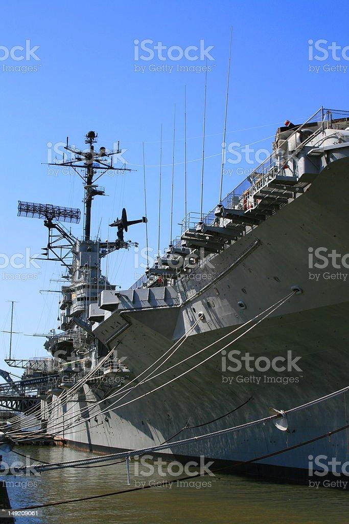 USS Hornet royalty-free stock photo