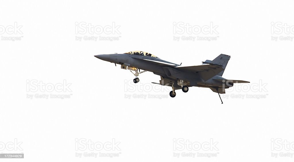 F/A 18 Hornet Readies To Land royalty-free stock photo