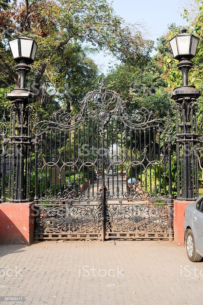 Horniman Circle Gates stock photo