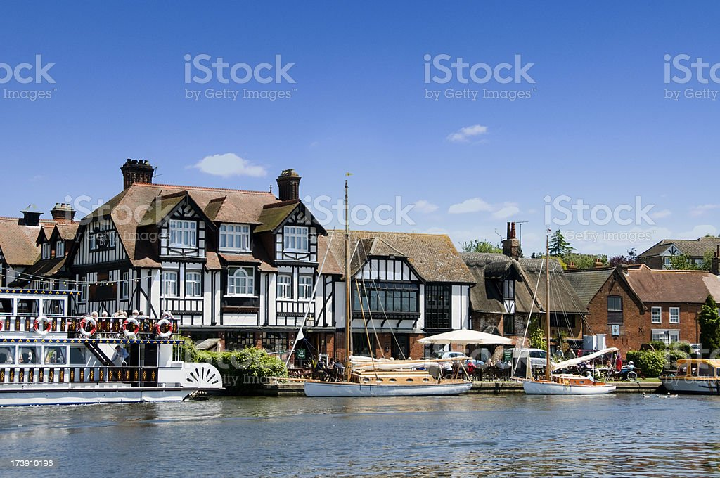 Horning Village on the Broads in Norfolk UK stock photo
