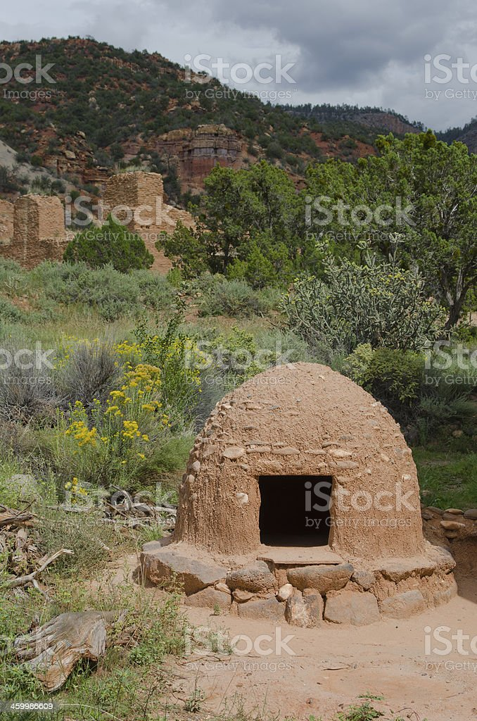 Horno at Jemez National Historic Landmark stock photo