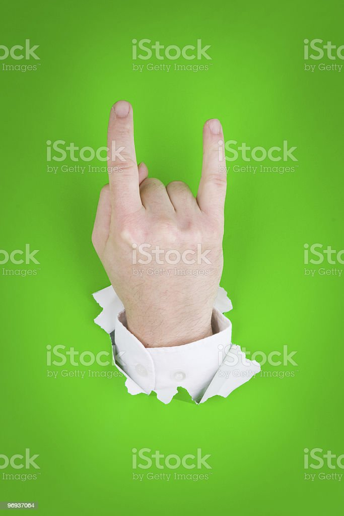 Horns hand sign royalty-free stock photo