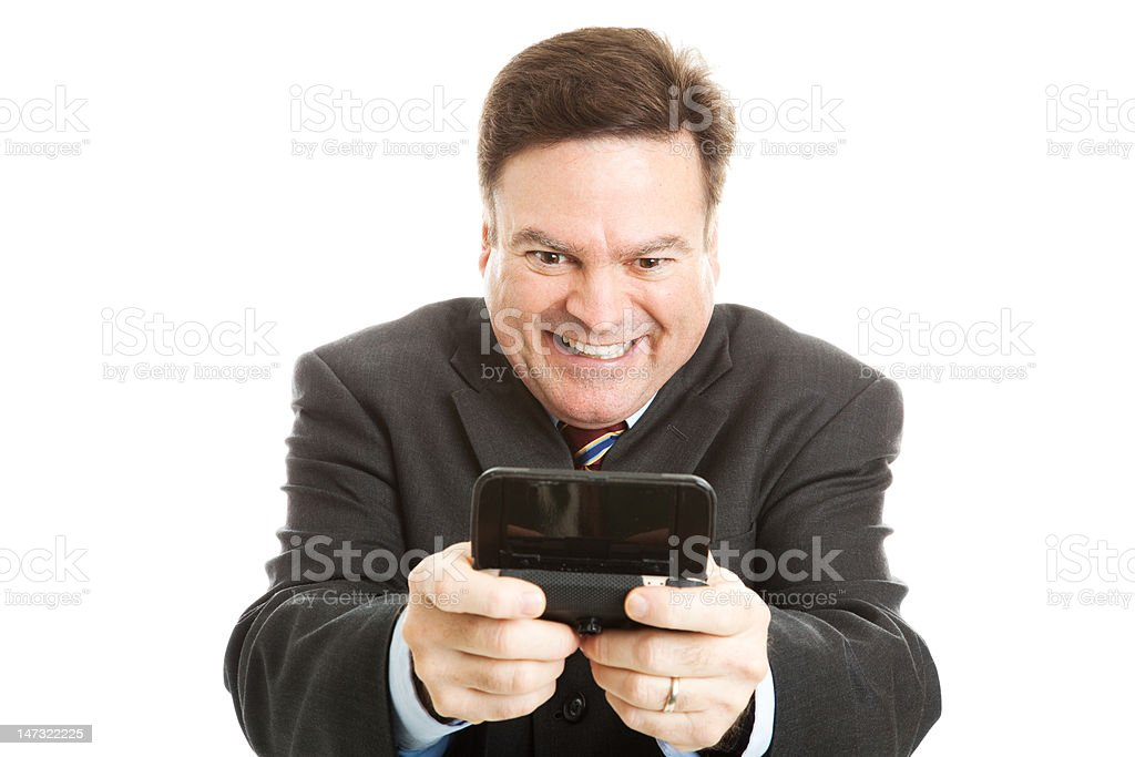 Horny Businessman Texting royalty-free stock photo