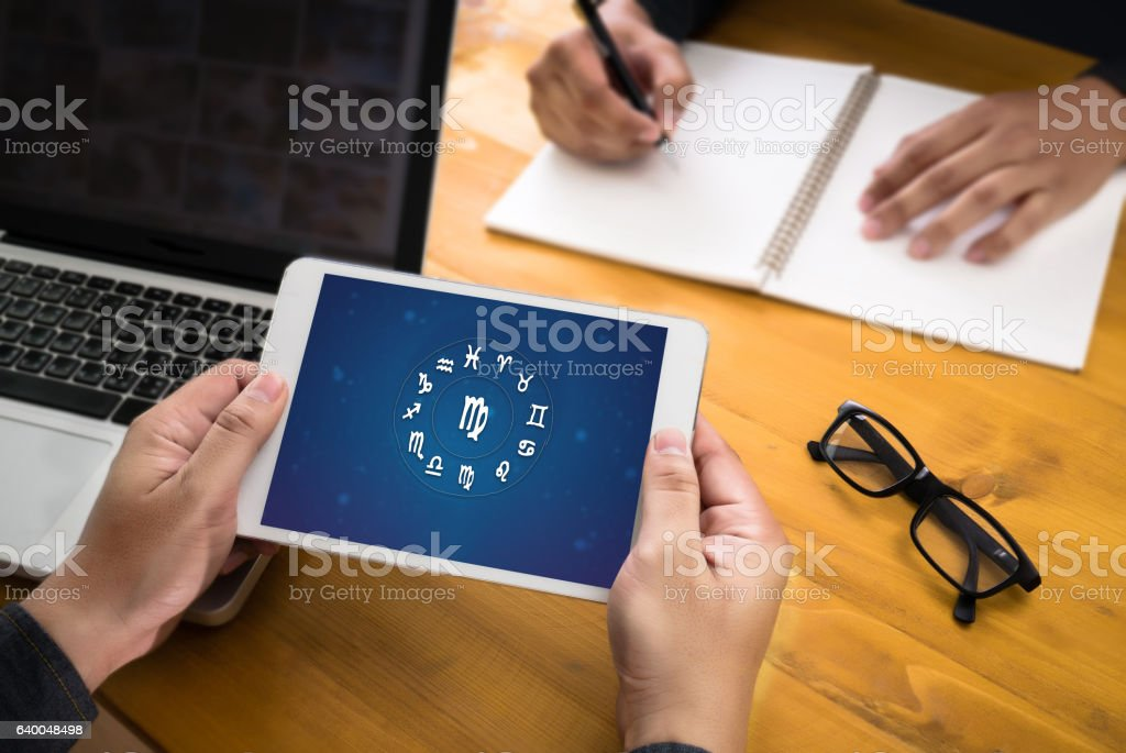 Horoscope Astrology Zodiac Fortune Sign Myth Stars Symbol , Trad stock photo