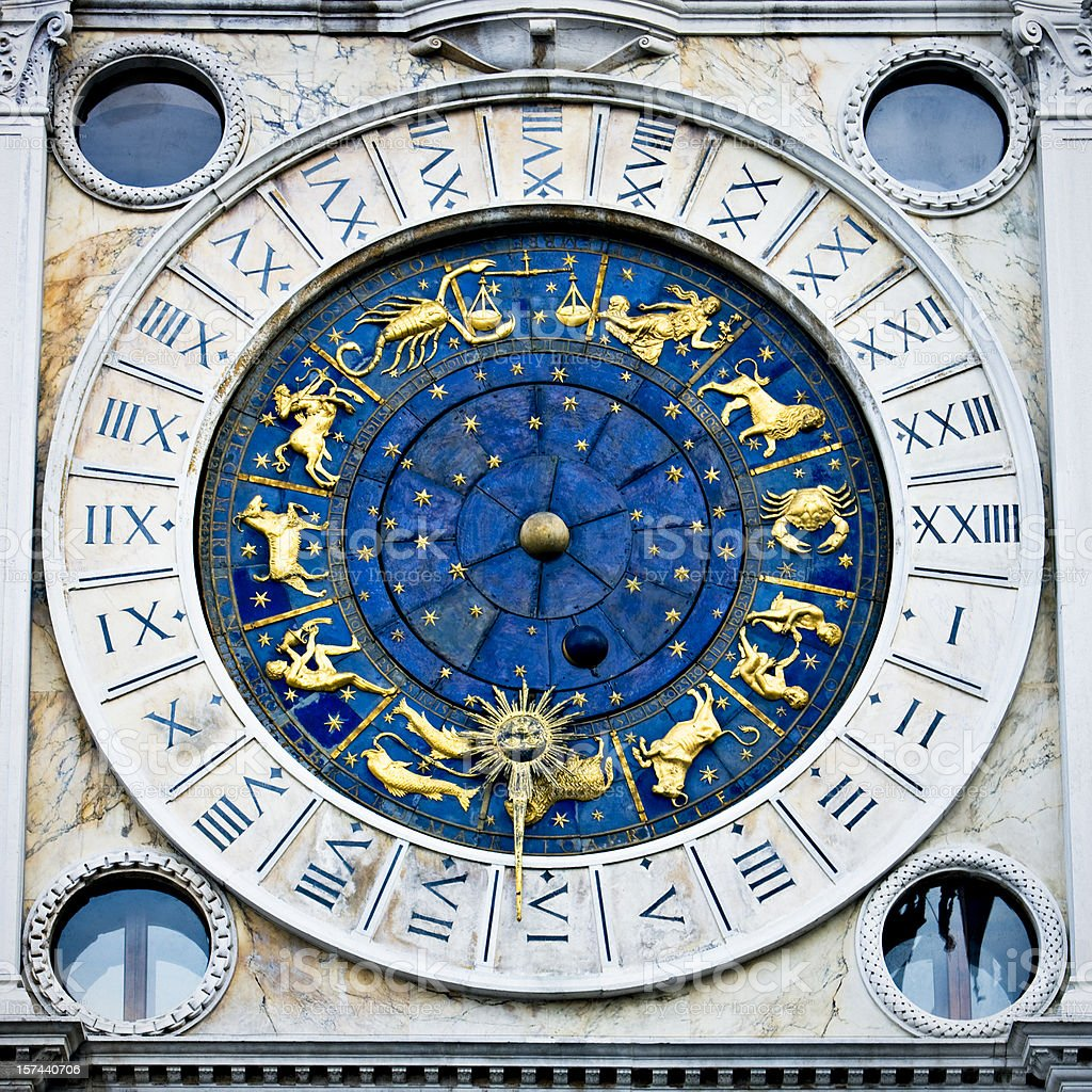 Horoscope in Venice stock photo