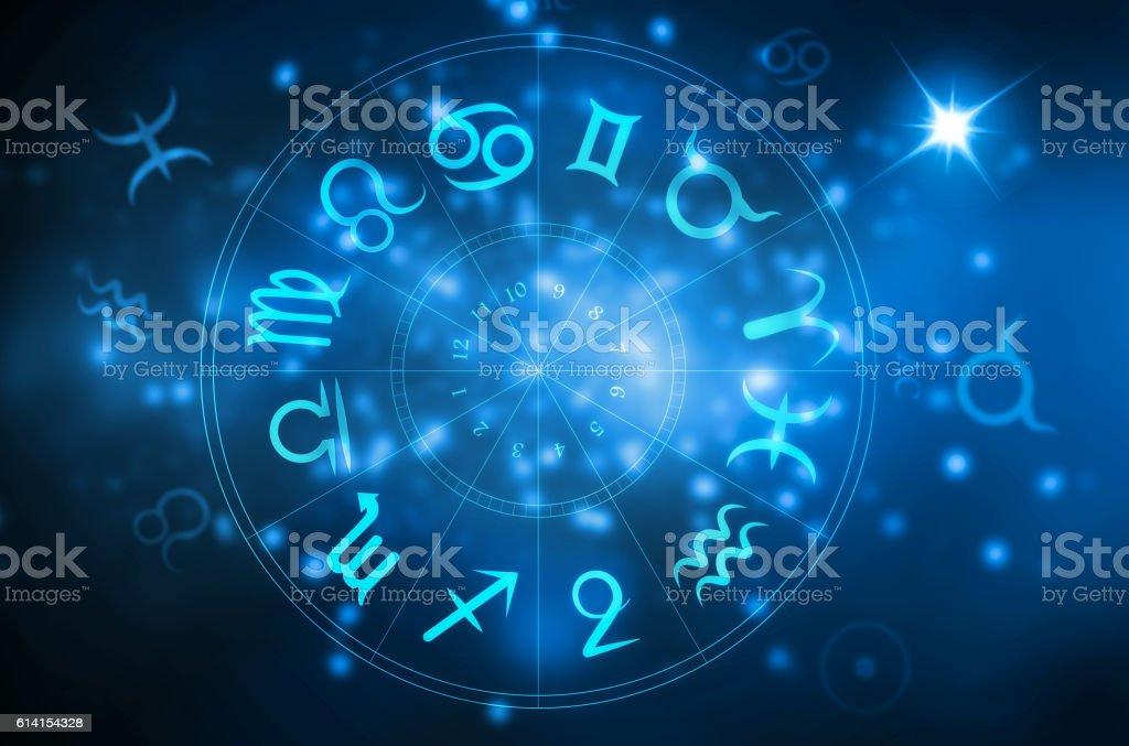 horoscope wheel stock photo