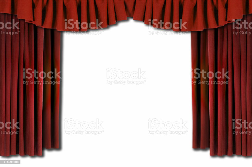 Red Theater Stage Drapes
