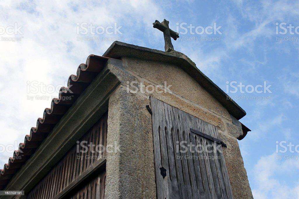 horreo - granary stock photo
