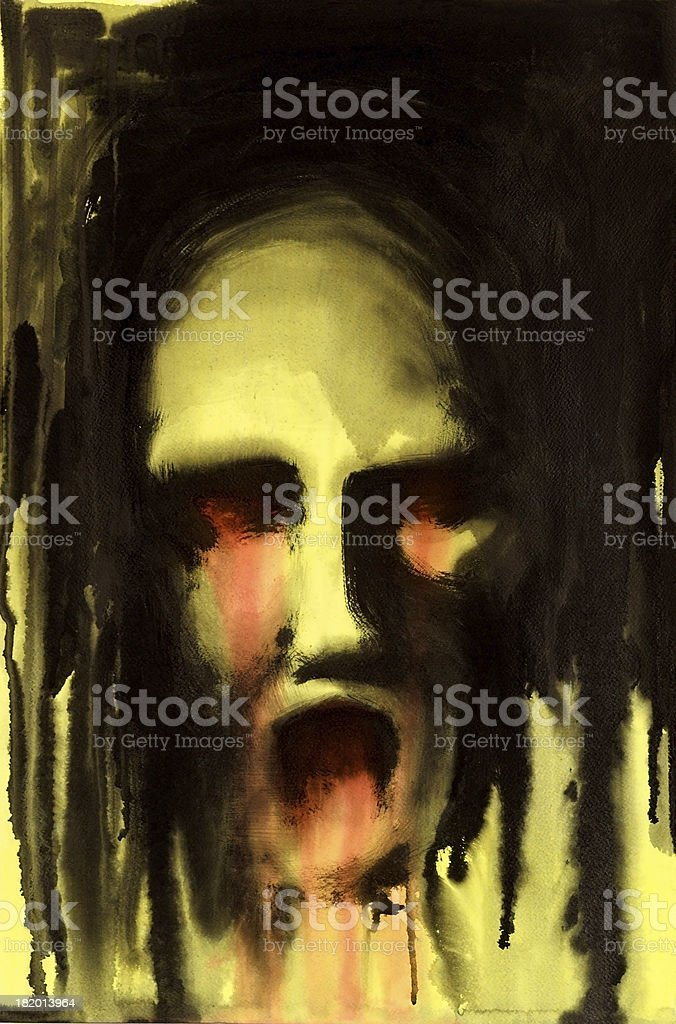 horrible face stock photo