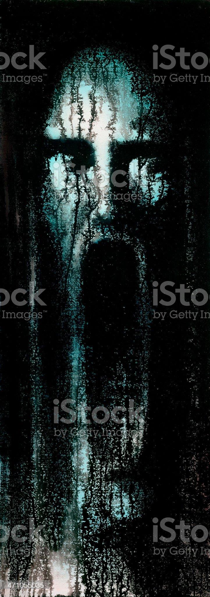 horrible scream royalty-free stock photo