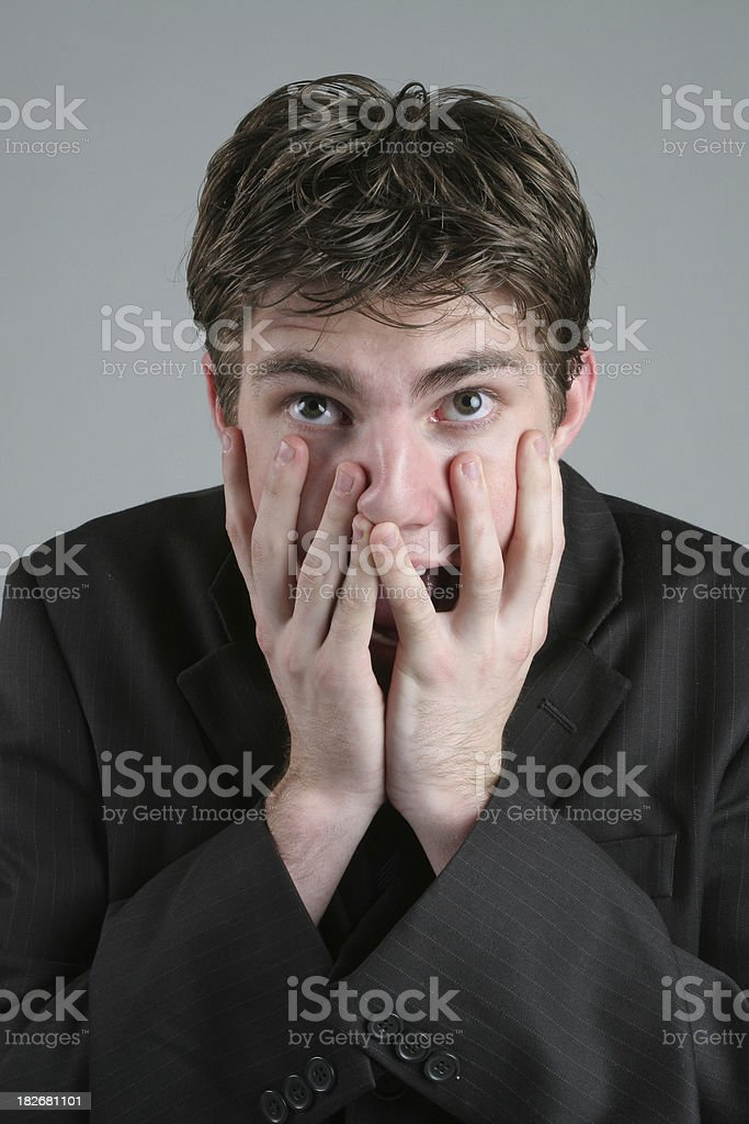 Horrified Businessman royalty-free stock photo
