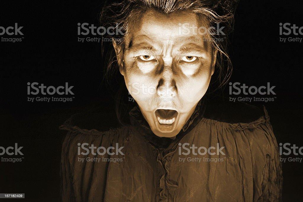 Horror face stock photo