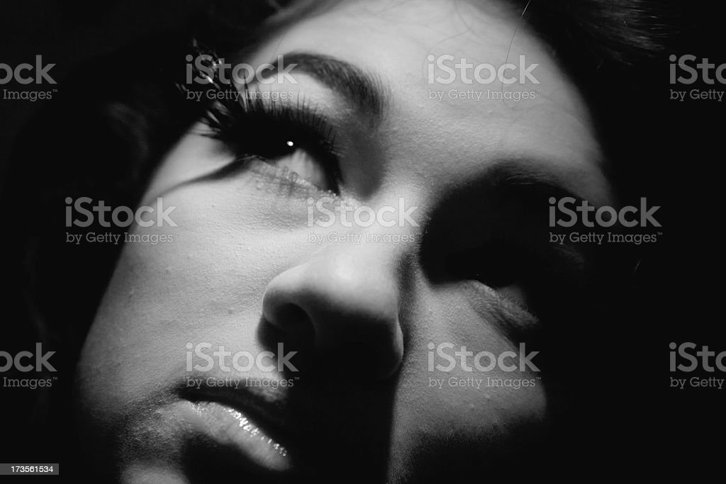 Horror flick actress royalty-free stock photo