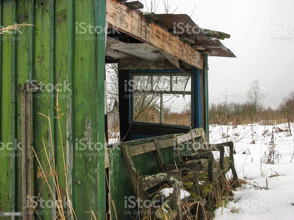 Horror house stock photo