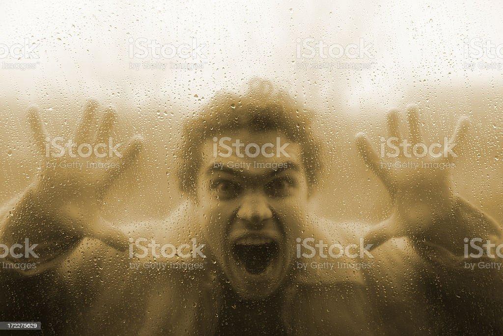 Horror in the rain royalty-free stock photo