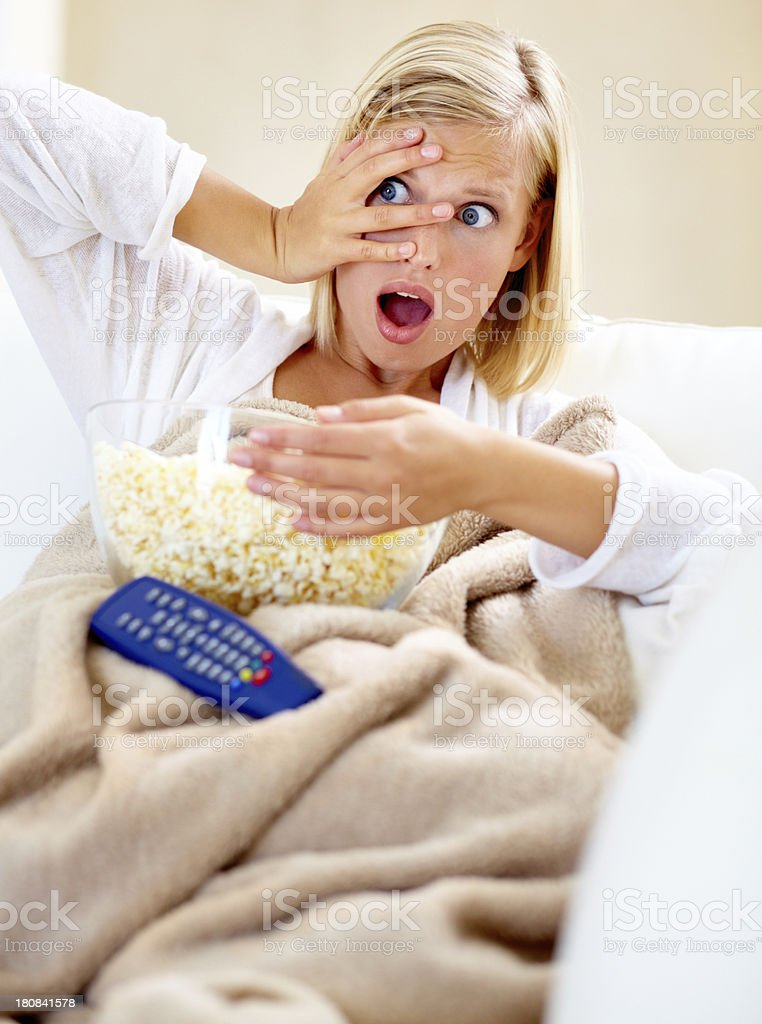 Horror movies are exciting royalty-free stock photo