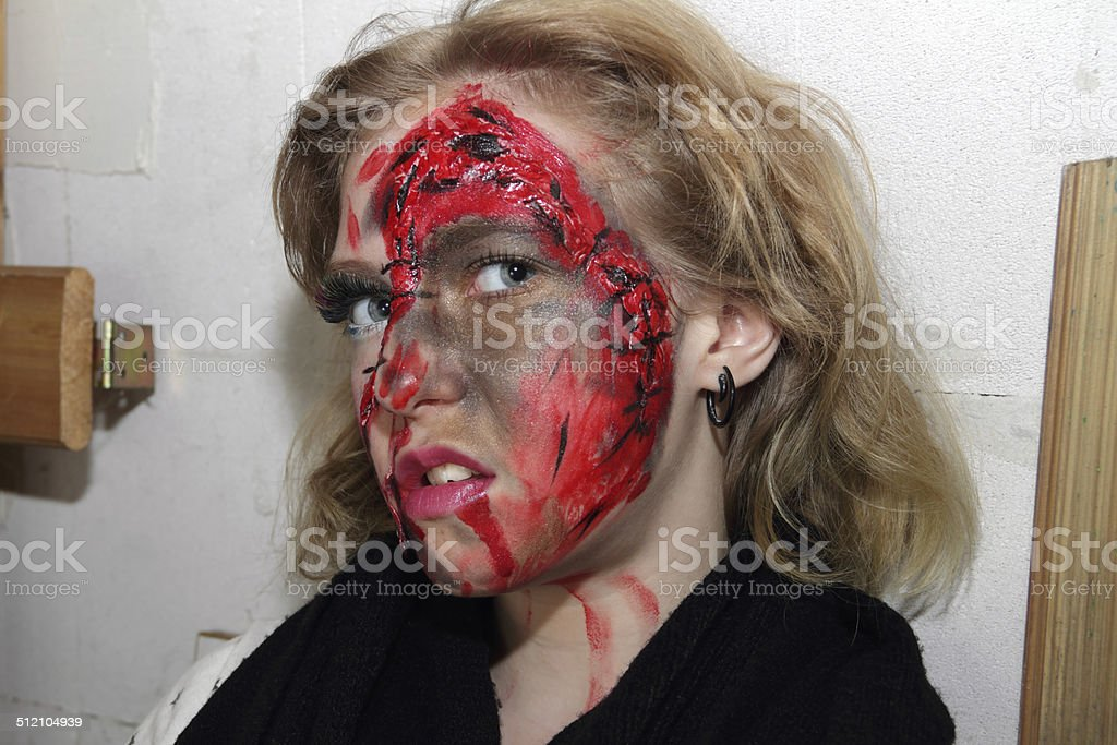 horror profile stock photo