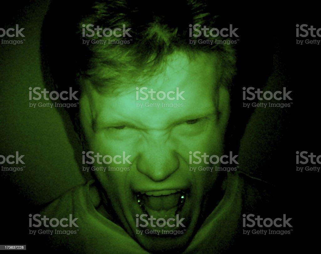 Horror - Rage stock photo