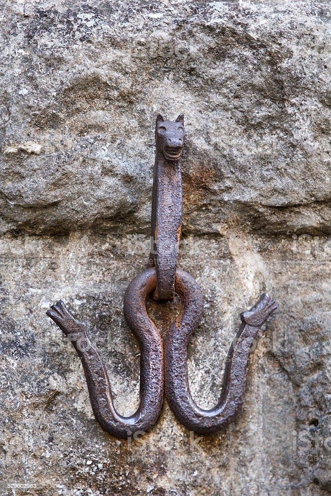 Horse anchor stock photo