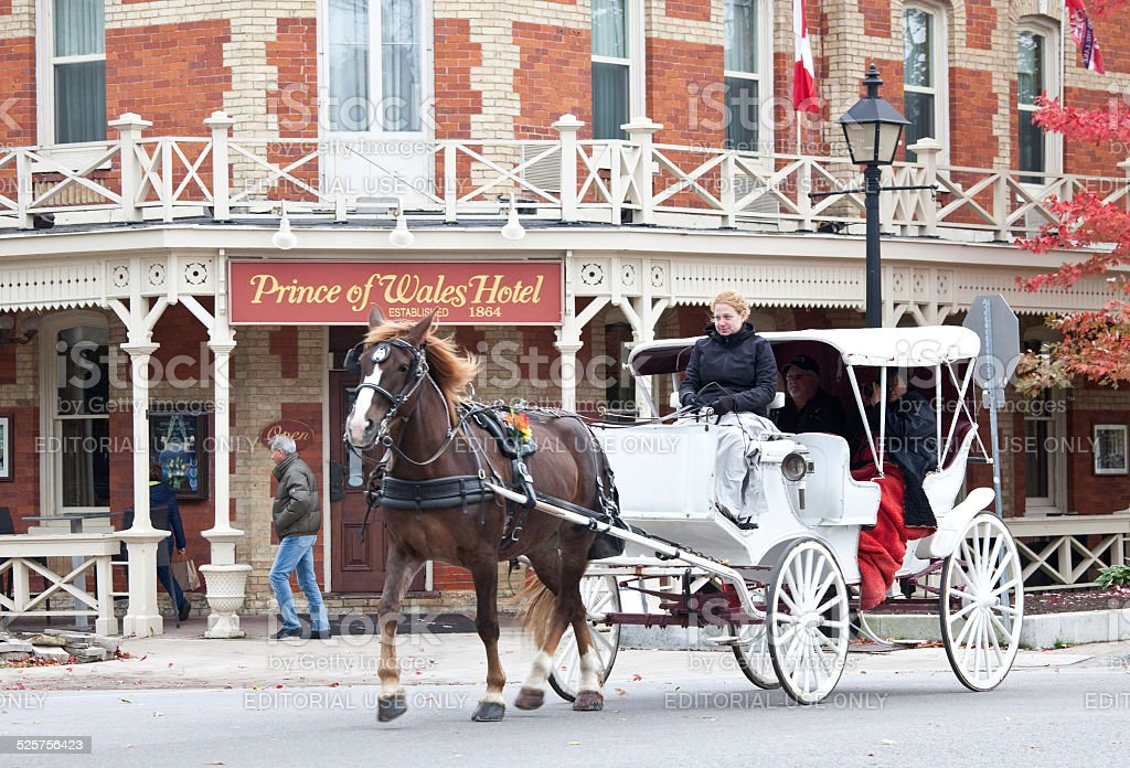 Horse Carriage in Niagara on the Lake stock photo