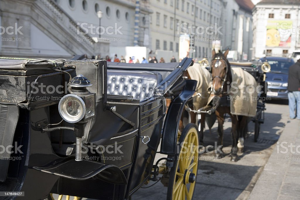 Horse Carriage in Vienna, Austria royalty-free stock photo