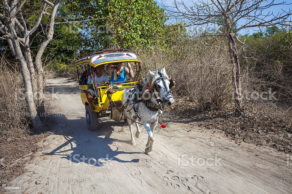 Horse cart, Gili Islands Indonesia royalty-free stock photo