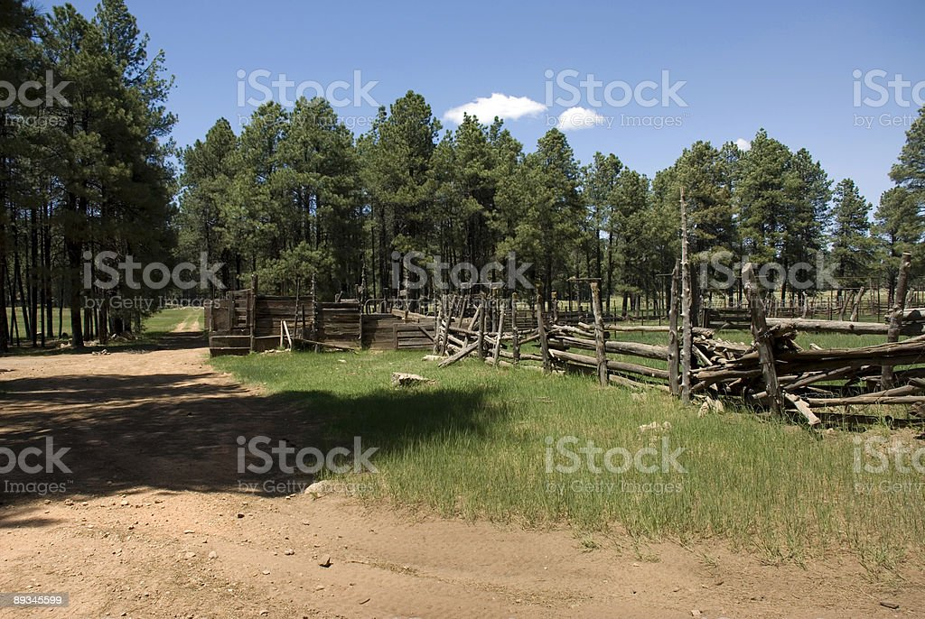 horse corral royalty-free stock photo