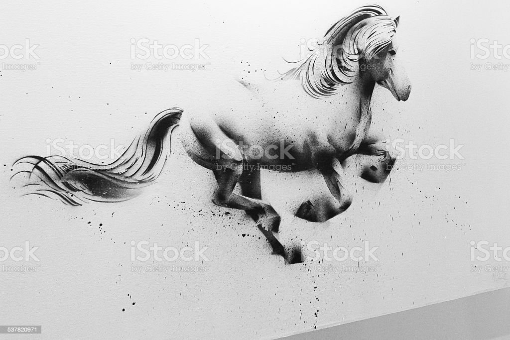 Horse Drawing stock photo