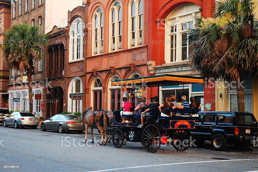 Horse Drawn Touring stock photo