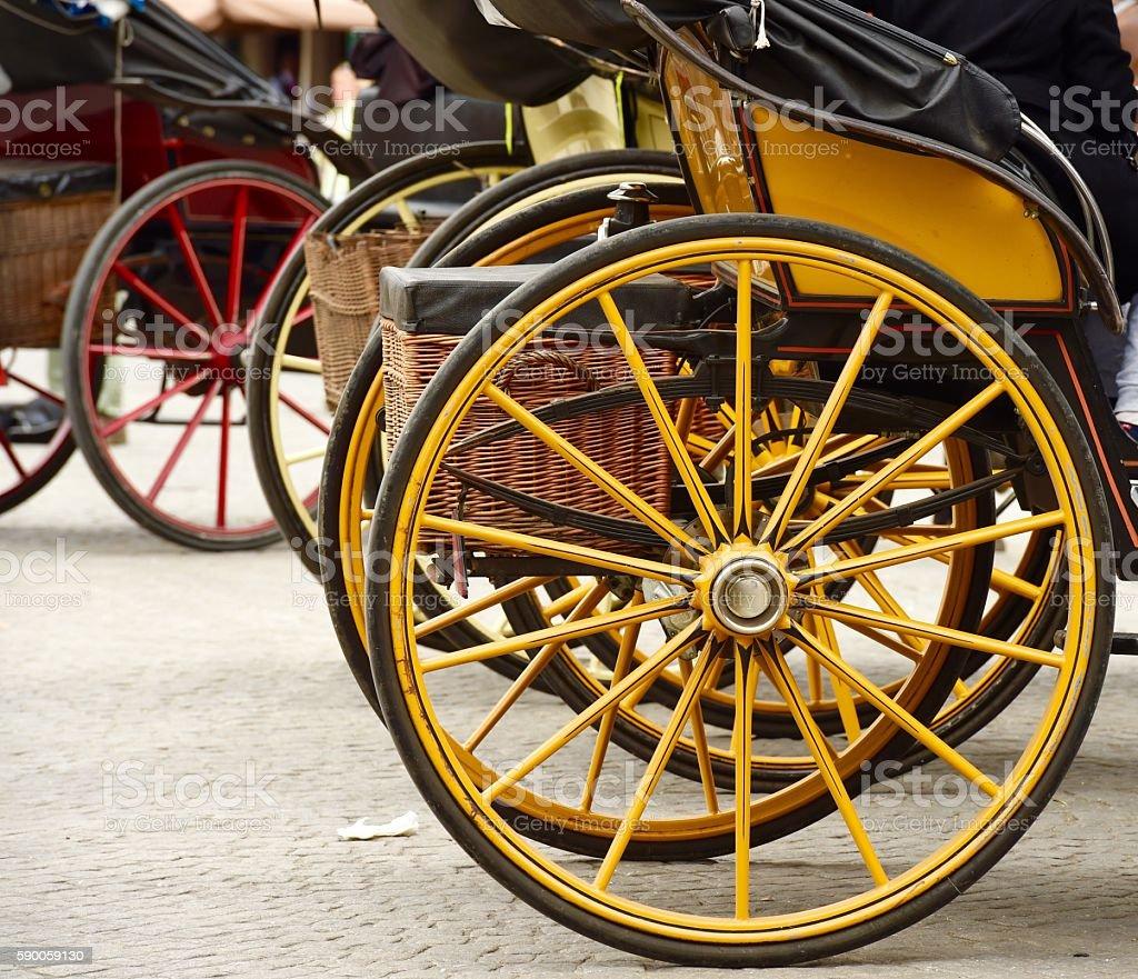 Horse Drawn Wagon stock photo