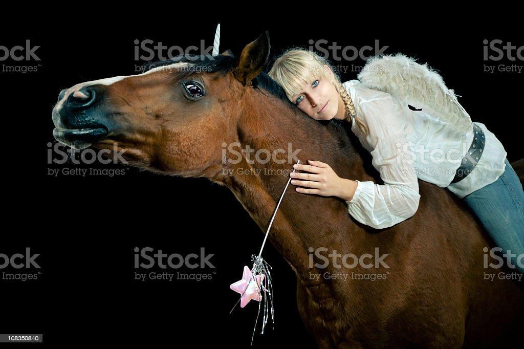 Horse Fairy stock photo