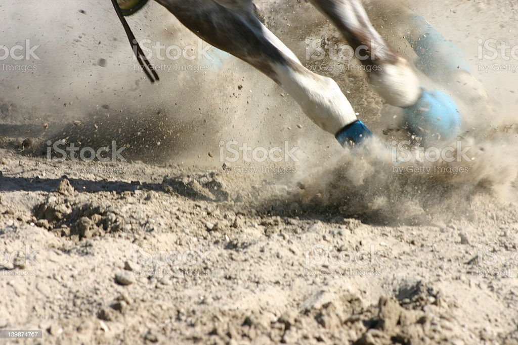 Horse Feet Racing stock photo