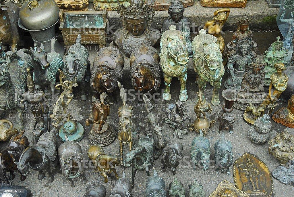 Horse figures stock photo