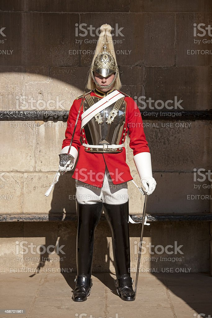 Horse Guard on guard. royalty-free stock photo