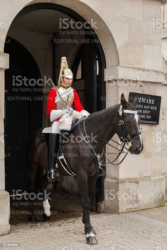 Horse Guard stock photo