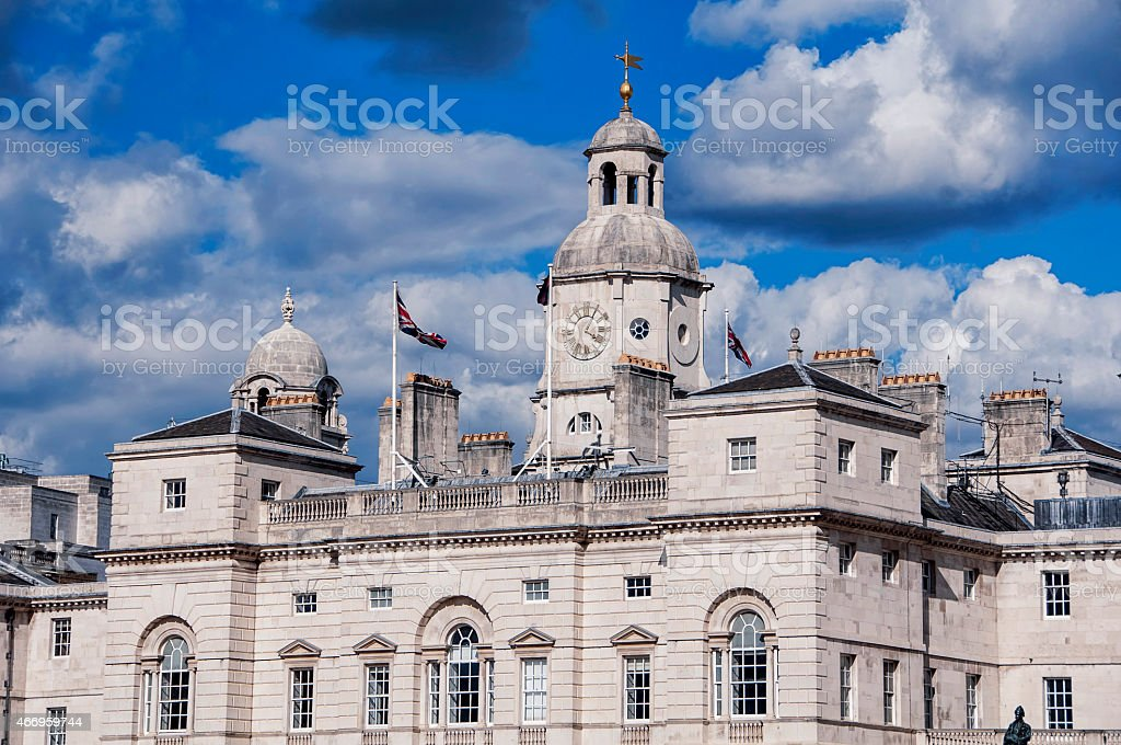 Horse Guards building in London stock photo