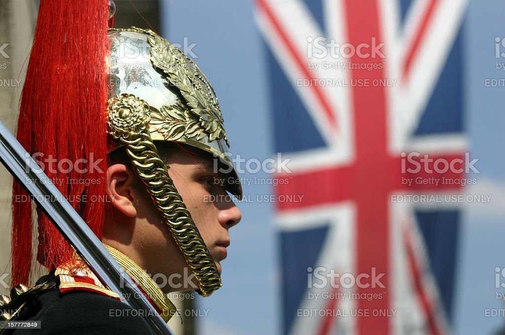 Horse Guards in London, England stock photo