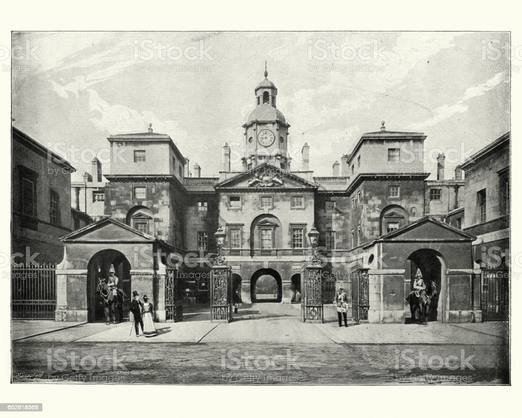 Horse Guards, London, 19th Century stock photo