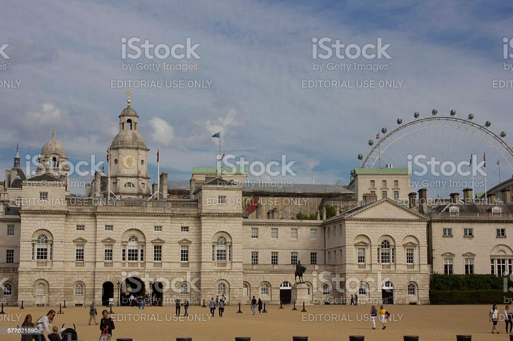Horse Guard's Palace in London stock photo