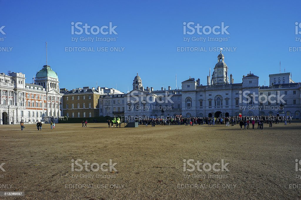 horse guards parade at london england UK stock photo