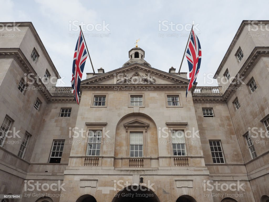 Horse Guards parade in London stock photo