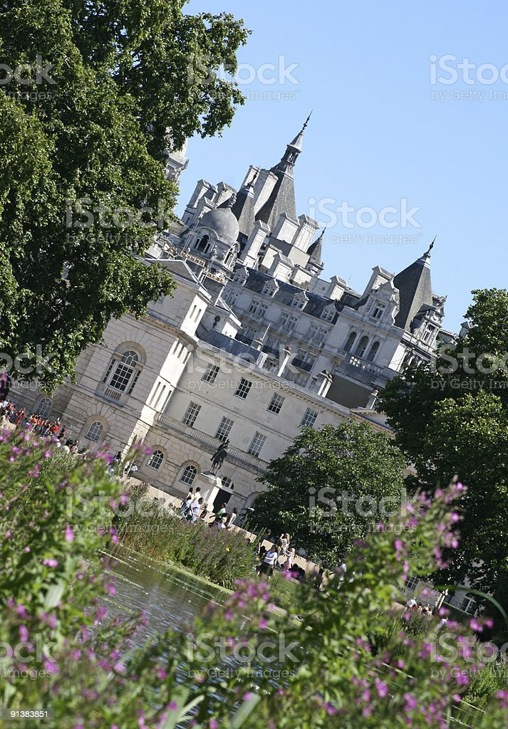 Horse Guards Parade in Whitehall, London royalty-free stock photo
