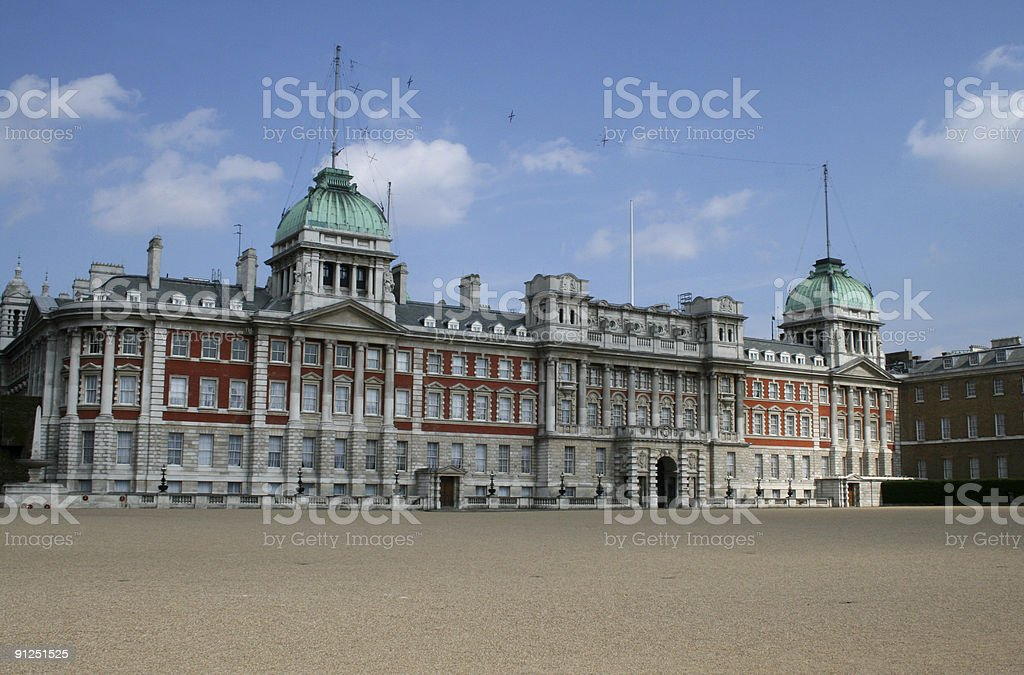 Horse Guards Parade in Whitehall, London Westminster royalty-free stock photo