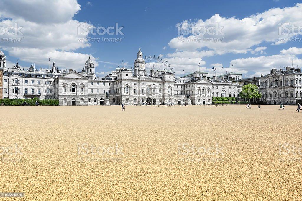 Horse Guards Parade, London. stock photo