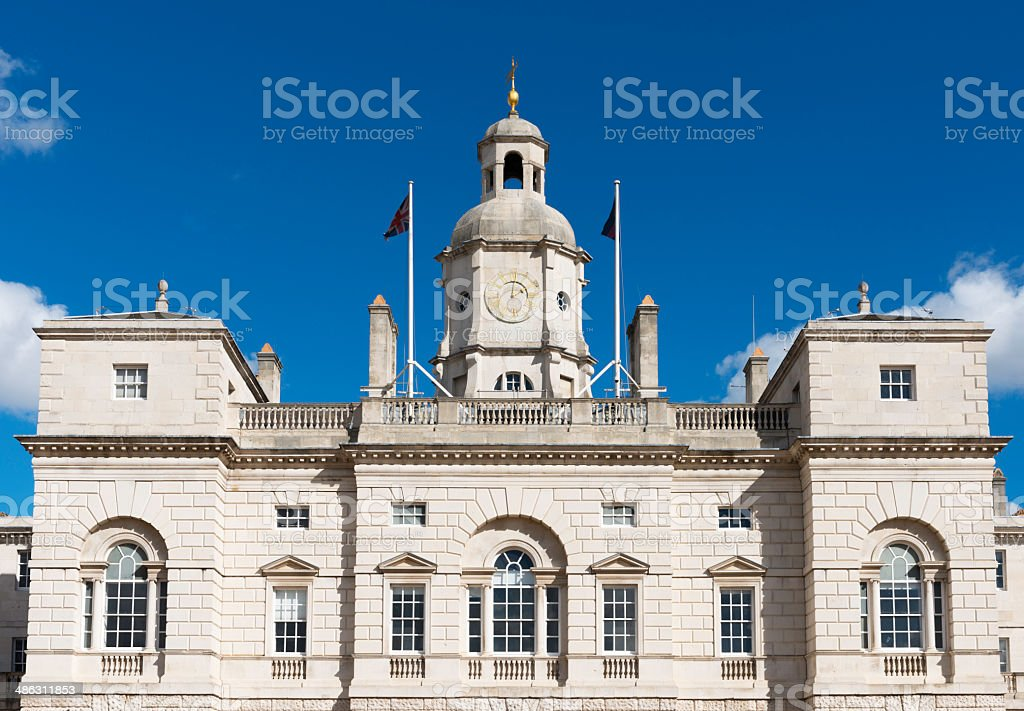 Horse Guards Parade on a surrny winter morning in London stock photo