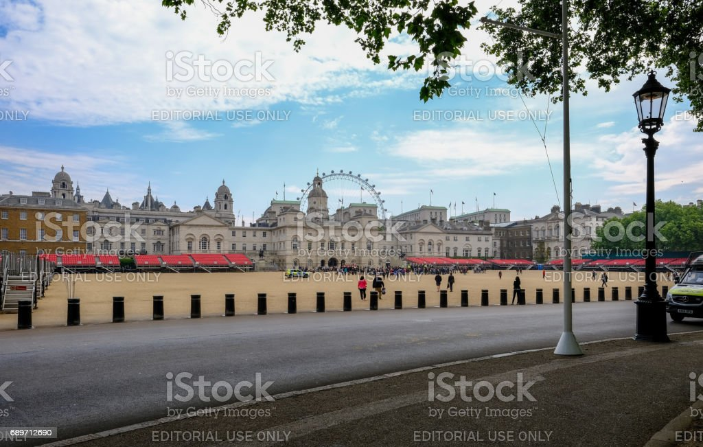 London, UK - May 5, 2017: Horse Guard's Parade stock photo