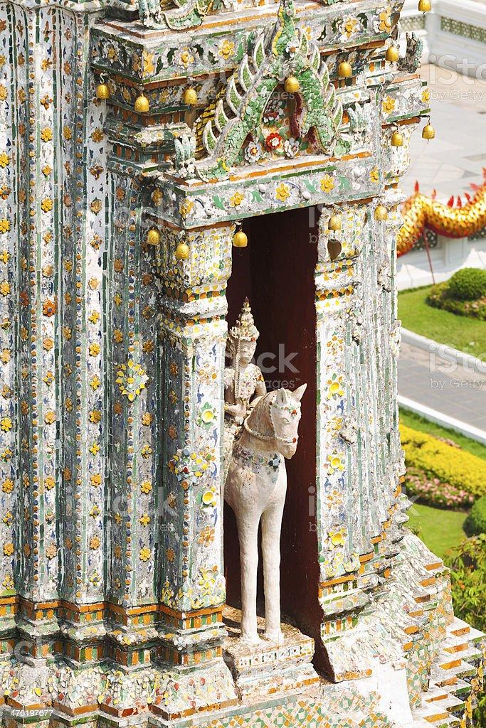 Horse in pagoda royalty-free stock photo