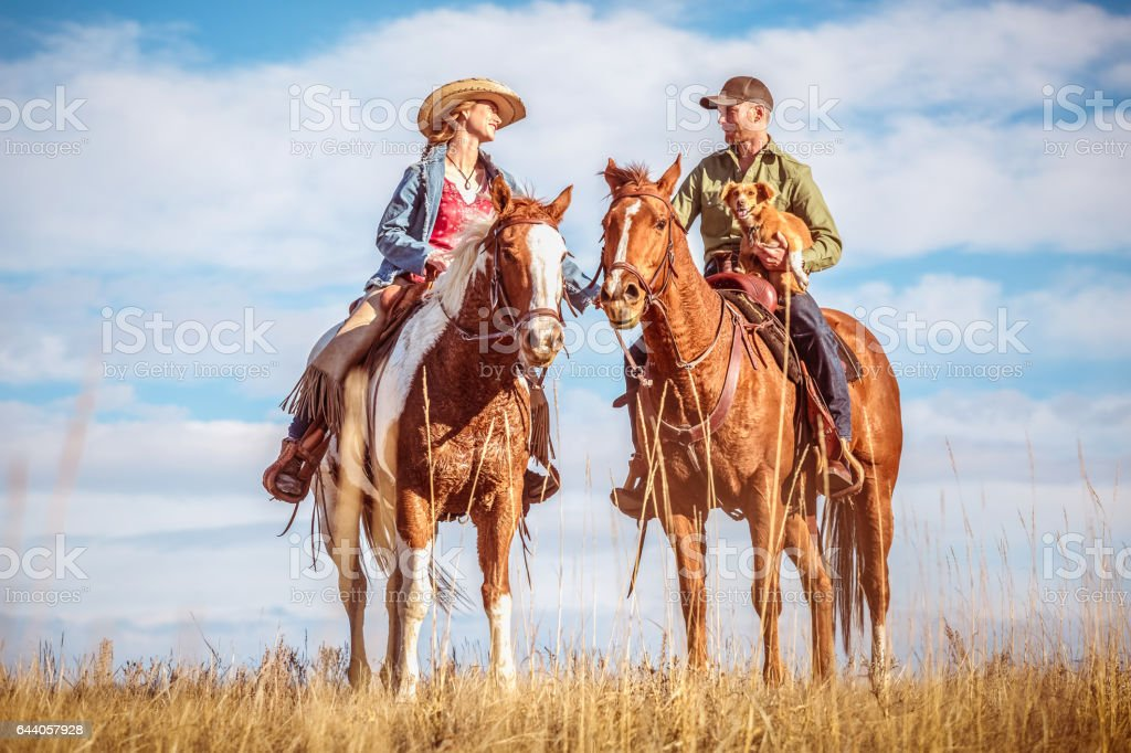 Horse Lovers stock photo